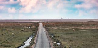 οδική θάλασσα νησιών wadden Στοκ Εικόνες