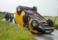 οδική κυκλοφορία ατυχή&mu Στοκ Φωτογραφίες
