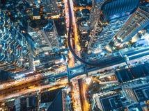 Οδική κυκλοφορία στην πόλη στην Ταϊλάνδη στοκ εικόνες