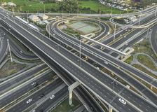 Οδική κυκλοφορία στην πόλη στην Ταϊλάνδη στοκ εικόνα