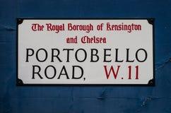 Οδική πινακίδα Portobello ` s Στοκ Εικόνες