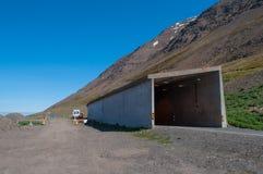 οδική σήραγγα στην Ισλανδία Στοκ φωτογραφίες με δικαίωμα ελεύθερης χρήσης