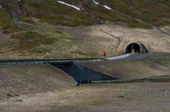 οδική σήραγγα στην Ισλανδία Στοκ εικόνα με δικαίωμα ελεύθερης χρήσης