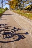 οδική σκιά επαρχίας ποδη&lamb Στοκ Εικόνα