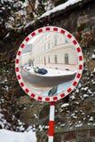 οδική στροφή καθρεφτών Στοκ φωτογραφία με δικαίωμα ελεύθερης χρήσης
