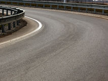 οδική στροφή τοπίων Στοκ εικόνα με δικαίωμα ελεύθερης χρήσης