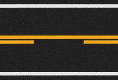 Οδική σύσταση ασφάλτου και γραμμές κυκλοφορίας Στοκ εικόνες με δικαίωμα ελεύθερης χρήσης