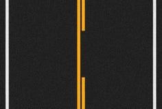 Οδική σύσταση ασφάλτου και γραμμές κυκλοφορίας Στοκ Εικόνες