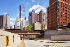 Οδική υποδομή της Νέας Υόρκης και αρχιτεκτονική, ΗΠΑ Στοκ εικόνες με δικαίωμα ελεύθερης χρήσης