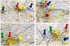 Οδικός χάρτης εθνικών οδών συλλογής Στοκ φωτογραφία με δικαίωμα ελεύθερης χρήσης