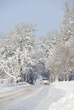 οδικός χειμώνας αυτοκι&nu Στοκ εικόνες με δικαίωμα ελεύθερης χρήσης