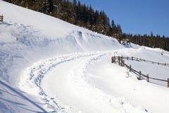 οδικός χειμώνας Στοκ Φωτογραφίες