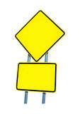 οδικό σημάδι κίτρινο Στοκ Φωτογραφία
