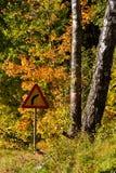 οδικό σημάδι καμπυλών Στοκ εικόνες με δικαίωμα ελεύθερης χρήσης