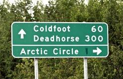 Οδικό σημάδι της Αλάσκας Στοκ εικόνα με δικαίωμα ελεύθερης χρήσης