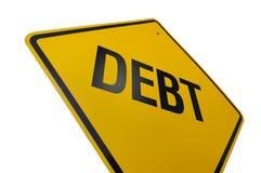 οδικό σημάδι χρέους Στοκ Εικόνα