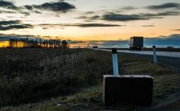 Οδικό σπίτι φθινοπώρου Στοκ Φωτογραφία