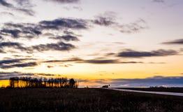 Οδικό σπίτι φθινοπώρου Στοκ φωτογραφία με δικαίωμα ελεύθερης χρήσης