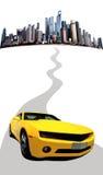 οδικό τρέξιμο αυτοκινήτων Στοκ Εικόνες