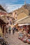 Οδοί αγοράς στο Μοστάρ Βοσνία στοκ φωτογραφία με δικαίωμα ελεύθερης χρήσης
