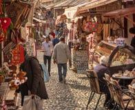 Οδοί αγοράς στο Μοστάρ Βοσνία στοκ εικόνα με δικαίωμα ελεύθερης χρήσης