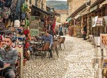Οδοί αγοράς στο Μοστάρ Βοσνία στοκ φωτογραφίες με δικαίωμα ελεύθερης χρήσης