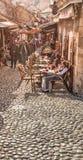 Οδοί αγοράς στο Μοστάρ Βοσνία στοκ εικόνα