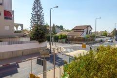 Οδοί και σπίτια στην περιοχή πόλεων Sheva μπύρας στοκ φωτογραφία με δικαίωμα ελεύθερης χρήσης