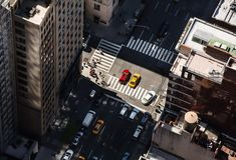 Οδοί και στέγες του Μανχάταν Στοκ εικόνα με δικαίωμα ελεύθερης χρήσης