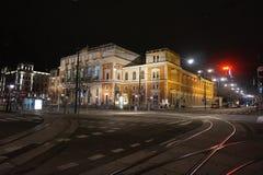 Οδοί νύχτας του χειμώνα Βιέννη στοκ φωτογραφίες με δικαίωμα ελεύθερης χρήσης