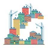 Οδοί πόλεων στο σπίτι Στοκ εικόνες με δικαίωμα ελεύθερης χρήσης