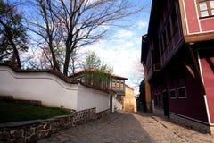 Οδοί στην παλαιά πόλη Plovdiv Η πόλη θα είναι ευρωπαϊκό κεφάλαιο του πολιτισμού το 2019 Στοκ Φωτογραφία
