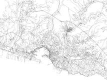 Οδοί της Γένοβας, χάρτης πόλεων, Λιγυρία, Ιταλία ελεύθερη απεικόνιση δικαιώματος