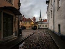 Οδοί της παλαιάς πόλης του Ταλίν Εσθονία Στοκ Φωτογραφία