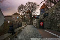 Οδοί της παλαιάς πόλης του Ταλίν Εσθονία στοκ εικόνες με δικαίωμα ελεύθερης χρήσης