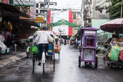 Οδοί της πόλης Yogyakarta της Ινδονησίας Στοκ εικόνα με δικαίωμα ελεύθερης χρήσης