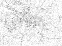 Οδοί της Φλωρεντίας, χάρτης πόλεων, Τοσκάνη, Ιταλία ελεύθερη απεικόνιση δικαιώματος