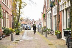 Οδοί της όμορφης πόλης του Χάρλεμ, Κάτω Χώρες Στοκ Εικόνα