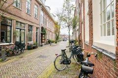 Οδοί της όμορφης πόλης του Χάρλεμ, Κάτω Χώρες Στοκ Εικόνες