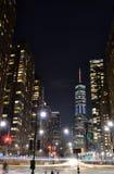 Οδοί του Μανχάταν τη νύχτα στοκ φωτογραφίες με δικαίωμα ελεύθερης χρήσης