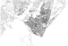 Οδοί του Μαπούτο, χάρτης της πόλης, Μοζαμβίκη Αφρική Στοκ εικόνα με δικαίωμα ελεύθερης χρήσης