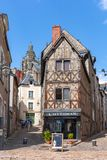 Οδοί Blois - μικρή πόλη στην κοιλάδα της Loire, Γαλλία στοκ φωτογραφία με δικαίωμα ελεύθερης χρήσης