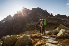 Οδοιπορία βουνών στην Πολωνία στοκ εικόνες
