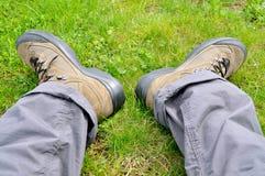 οδοιπορία παπουτσιών στοκ εικόνα
