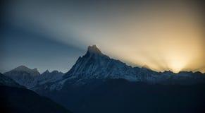 Οδοιπορικό κυκλωμάτων Annapurna ανατολής Στοκ εικόνα με δικαίωμα ελεύθερης χρήσης