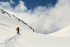 Οδοιπόροι στο βουνό στοκ φωτογραφία