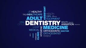 Οδοντιατρικής ιατρικής το ενήλικο βοηθητικό προσοχής τερηδόνων καρεκλών καλλυντικό κλινικών εξέτασης καθαρό ζωντάνεψε το υπόβαθρο ελεύθερη απεικόνιση δικαιώματος