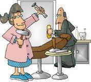 οδοντικός υγιεινολόγος διανυσματική απεικόνιση