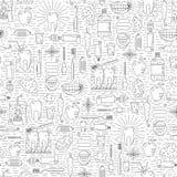 Οδοντικό άνευ ραφής σχέδιο προσοχής Απλό γραμμικό σχέδιο Στοκ φωτογραφία με δικαίωμα ελεύθερης χρήσης