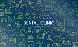 Οδοντικό έμβλημα κλινικών Στοκ φωτογραφία με δικαίωμα ελεύθερης χρήσης